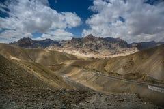 Karakorum scene. From highway to Leh royalty free stock image