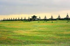 Karakorum-Stadtmauern, alte Hauptstadt von Mongolei stockfoto