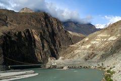 Karakorum väg Royaltyfri Bild
