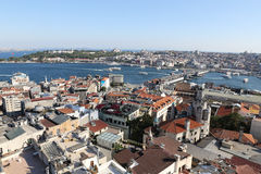 Karakoy and Eminonu District in Istanbul City Stock Photography
