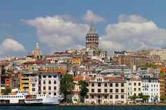 Karakoy and Galata Tower Royalty Free Stock Photos
