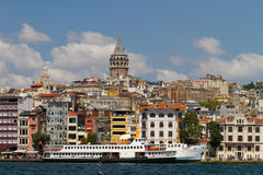 Karakoy and Galata Tower Royalty Free Stock Photo
