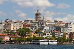 Karakoy and Galata Tower Stock Images