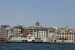 Karakoy and Galata Tower in Istanbul City Royalty Free Stock Image