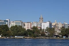 Karakoy and Galata Tower in Istanbul City Stock Photography