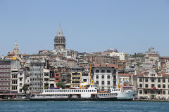 Karakoy and Galata Tower in Istanbul, Turkey Royalty Free Stock Image