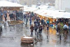 Karakoy Pier and fish market Stock Images