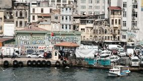 Karakoy Street in the Istanbul stock footage