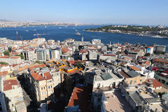 Karakoy and Topkapi Palace in Istanbul City Stock Images
