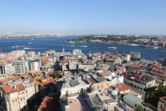 Karakoy and Topkapi Palace in Istanbul City Stock Image