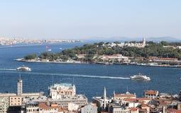 Karakoy and Topkapi Palace in Istanbul City Royalty Free Stock Photos