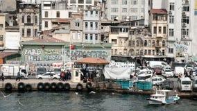 Karakoystraat in Istanboel stock footage