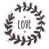Karaktärsteckning med förälskelse stock illustrationer