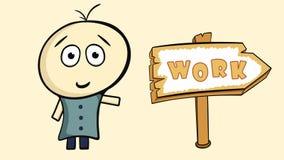 Karakter en het werkteken stock illustratie