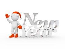 Karakter en nieuw jaar stock foto