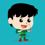 Karakter Robin Hood Stock Foto's