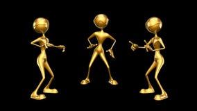 Karakter van de mensen 3D Pret 2 videolijnen - op Achtergrond en op Alpha Channel vector illustratie