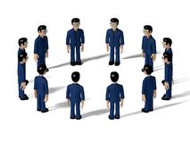 Karakter van het assemblage 3D Beeldverhaal Stock Foto