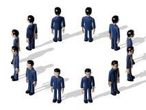 Karakter van het assemblage 3D Beeldverhaal Stock Fotografie