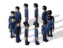 Karakter van het assemblage 3D Beeldverhaal Stock Afbeeldingen