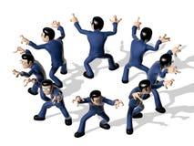 Karakter van het assemblage 3D Beeldverhaal Royalty-vrije Stock Foto's