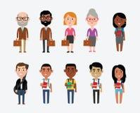 Karakterillustraties die Beroepen in Onderwijs afschilderen vector illustratie