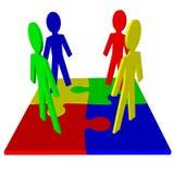 Karakters en raadsel - commercieel team, groepswerk Royalty-vrije Stock Afbeelding