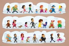 Karakters op straat Stock Foto's