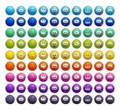 Karakters van beeldverhaal de kleurrijke pluizige ballen vector illustratie