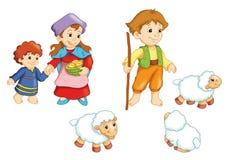 Karakters van de trog Stock Afbeeldingen
