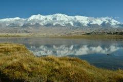 Karakul lake and Muztagh Ata Royalty Free Stock Image