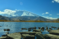 Karakul lake and Muztagh Ata Stock Images