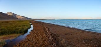 Karakul lake and Pamir range in Tajikistan royalty free stock photography