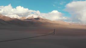 Karakul Lake Tajikistan. M41 Pamir Highway, Areal Dron Shoot. stock footage