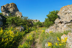Karalar regional landscape park in Crimea. Royalty Free Stock Photos