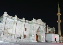 Karamanoglu Grand Mosque at night in Aksaray. Stock Image