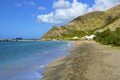Karambola beach in St Kitts, Caribbean Royalty Free Stock Images