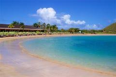 Karambolastrand in St Caraïbisch Kitts, royalty-vrije stock fotografie