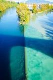 Karambolowanie rzeki w Genewa zdjęcia royalty free