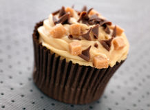 Karamel Cupcake Royalty-vrije Stock Afbeeldingen