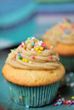 Karamel cupcakes Royalty-vrije Stock Fotografie