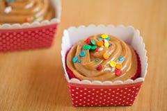 Karamel cupcakes Stock Fotografie