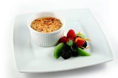 Karamel met vruchten Royalty-vrije Stock Afbeelding