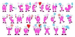 Karamell Alfabet Arkivbild