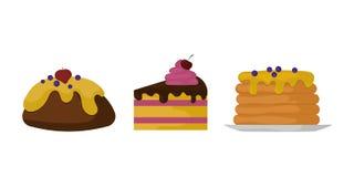Karamell för godis för ferie för kaka för choklad för design och för mellanmål för klubba för konfekt för socker för efterrätt fö stock illustrationer