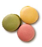 Karamell farbige macarons Lizenzfreies Stockfoto