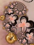 Karamell mit Schokoladen-Blumen Lizenzfreie Stockbilder