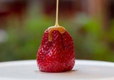 Karamell och fraise Arkivfoto