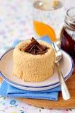 Karamell Quark Dessert Royaltyfri Fotografi