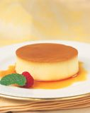 Karamellpudding Stockfotos